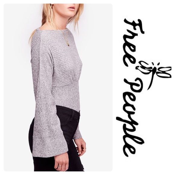 216d596e02c New Free People Crazy On You Thermal Top Grey